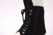 Фиксатор голеностопа с пластиной на шнуровке F-2271