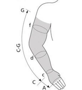 Рукав медицинский эластичный компрессионный, с плечом, с полуперчаткой TONUS 0403-02