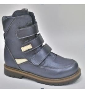 Ботинки зимние подростковые из натуральной кожи М641 Д